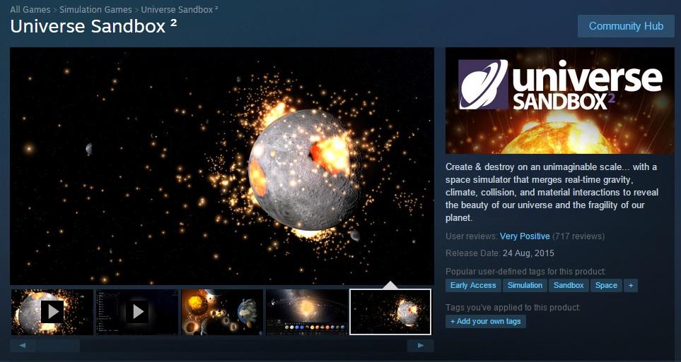 Universe Sanbox 2 adalah game simulasi
