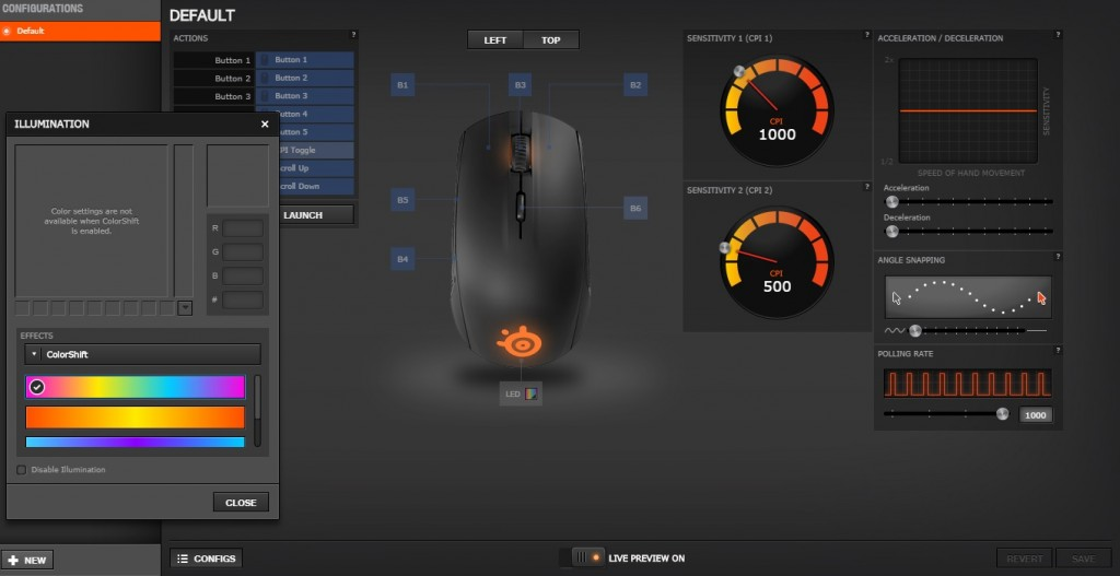 setting steelseries engine rival 100